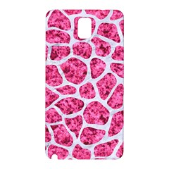 Skin1 White Marble & Pink Marble (r) Samsung Galaxy Note 3 N9005 Hardshell Back Case by trendistuff