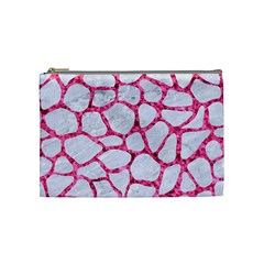 Skin1 White Marble & Pink Marble Cosmetic Bag (medium)