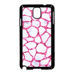 Skin1 White Marble & Pink Marble Samsung Galaxy Note 3 Neo Hardshell Case (black)