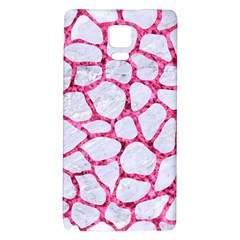 Skin1 White Marble & Pink Marble Galaxy Note 4 Back Case