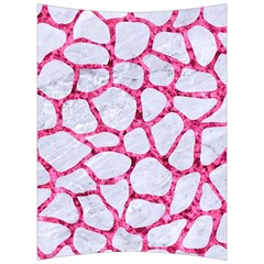 Skin1 White Marble & Pink Marble Back Support Cushion by trendistuff