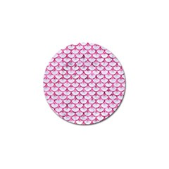 Scales3 White Marble & Pink Marble (r) Golf Ball Marker (4 Pack)