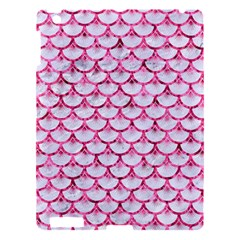 Scales3 White Marble & Pink Marble (r) Apple Ipad 3/4 Hardshell Case by trendistuff