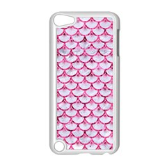 Scales3 White Marble & Pink Marble (r) Apple Ipod Touch 5 Case (white) by trendistuff