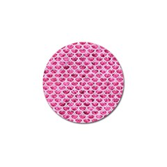 Scales3 White Marble & Pink Marble Golf Ball Marker (10 Pack)