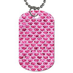 Scales3 White Marble & Pink Marble Dog Tag (two Sides) by trendistuff