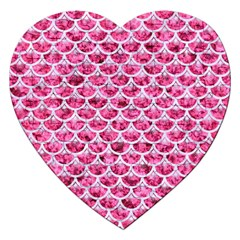 Scales3 White Marble & Pink Marble Jigsaw Puzzle (heart)