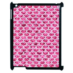 Scales3 White Marble & Pink Marble Apple Ipad 2 Case (black)