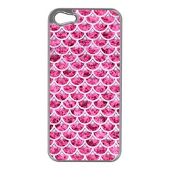 Scales3 White Marble & Pink Marble Apple Iphone 5 Case (silver) by trendistuff