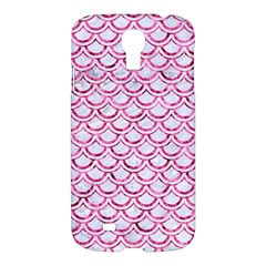 Scales2 White Marble & Pink Marble (r) Samsung Galaxy S4 I9500/i9505 Hardshell Case by trendistuff