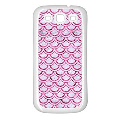 Scales2 White Marble & Pink Marble (r) Samsung Galaxy S3 Back Case (white)