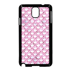 Scales2 White Marble & Pink Marble (r) Samsung Galaxy Note 3 Neo Hardshell Case (black)