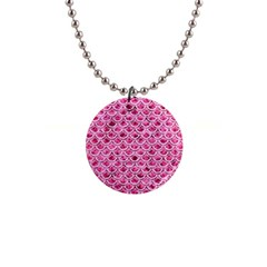 Scales2 White Marble & Pink Marble Button Necklaces