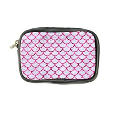 Scales1 White Marble & Pink Marble (r) Coin Purse