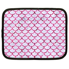 Scales1 White Marble & Pink Marble (r) Netbook Case (xl)  by trendistuff