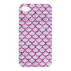 Scales1 White Marble & Pink Marble (r) Apple Iphone 4/4s Hardshell Case by trendistuff