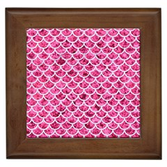 Scales1 White Marble & Pink Marble Framed Tiles