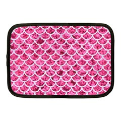 Scales1 White Marble & Pink Marble Netbook Case (medium)