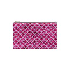 Scales1 White Marble & Pink Marble Cosmetic Bag (small)
