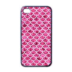 Scales1 White Marble & Pink Marble Apple Iphone 4 Case (black) by trendistuff