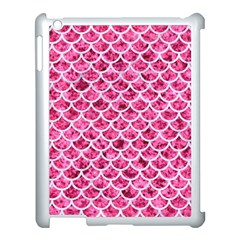 Scales1 White Marble & Pink Marble Apple Ipad 3/4 Case (white) by trendistuff