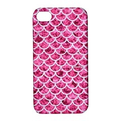 Scales1 White Marble & Pink Marble Apple Iphone 4/4s Hardshell Case With Stand by trendistuff