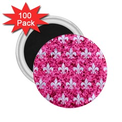 Royal1 White Marble & Pink Marble (r) 2 25  Magnets (100 Pack)