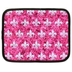 Royal1 White Marble & Pink Marble (r) Netbook Case (xxl)