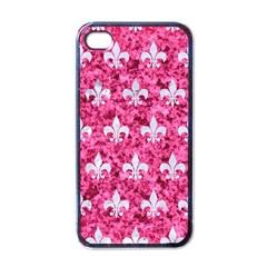 Royal1 White Marble & Pink Marble (r) Apple Iphone 4 Case (black)