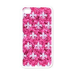 Royal1 White Marble & Pink Marble (r) Apple Iphone 4 Case (white)