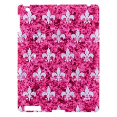 Royal1 White Marble & Pink Marble (r) Apple Ipad 3/4 Hardshell Case by trendistuff