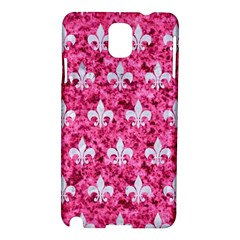 Royal1 White Marble & Pink Marble (r) Samsung Galaxy Note 3 N9005 Hardshell Case by trendistuff