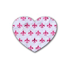 Royal1 White Marble & Pink Marble Heart Coaster (4 Pack)  by trendistuff