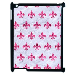 Royal1 White Marble & Pink Marble Apple Ipad 2 Case (black)