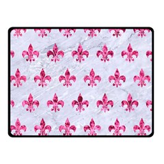 Royal1 White Marble & Pink Marble Double Sided Fleece Blanket (small)  by trendistuff