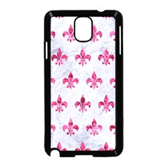 Royal1 White Marble & Pink Marble Samsung Galaxy Note 3 Neo Hardshell Case (black)