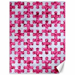Puzzle1 White Marble & Pink Marble Canvas 12  X 16   by trendistuff