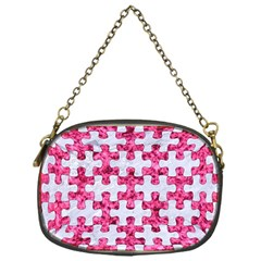 Puzzle1 White Marble & Pink Marble Chain Purses (one Side)