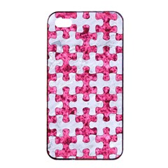 Puzzle1 White Marble & Pink Marble Apple Iphone 4/4s Seamless Case (black) by trendistuff