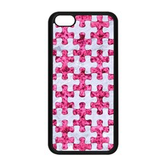 Puzzle1 White Marble & Pink Marble Apple Iphone 5c Seamless Case (black)
