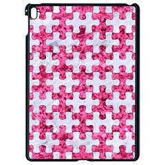 Puzzle1 White Marble & Pink Marble Apple Ipad Pro 9 7   Black Seamless Case
