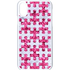 Puzzle1 White Marble & Pink Marble Apple Iphone X Seamless Case (white)