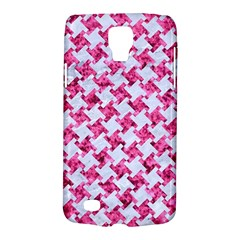 Houndstooth2 White Marble & Pink Marble Galaxy S4 Active