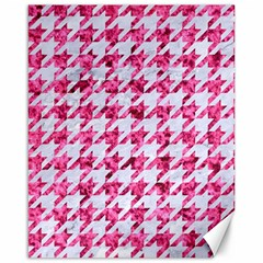 Houndstooth1 White Marble & Pink Marble Canvas 16  X 20