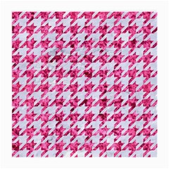 Houndstooth1 White Marble & Pink Marble Medium Glasses Cloth
