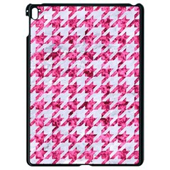 Houndstooth1 White Marble & Pink Marble Apple Ipad Pro 9 7   Black Seamless Case