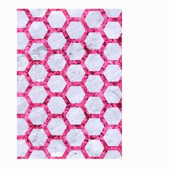 Hexagon2 White Marble & Pink Marble (r) Large Garden Flag (two Sides) by trendistuff