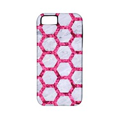 Hexagon2 White Marble & Pink Marble (r) Apple Iphone 5 Classic Hardshell Case (pc+silicone)