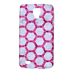 Hexagon2 White Marble & Pink Marble (r) Galaxy S4 Active
