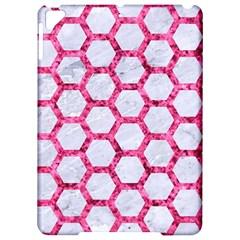 Hexagon2 White Marble & Pink Marble (r) Apple Ipad Pro 9 7   Hardshell Case